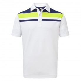 Footjoy Stretch Pique Colour Block Yoke Polo